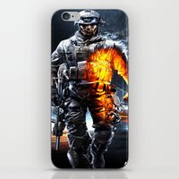 battlefield iPhone & iPod Skins featuring Battlefield 3 by Angelblack