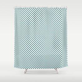 Teal Polka Dots Shower Curtain