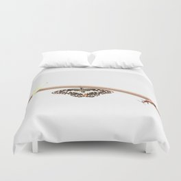 beetle and butterfly Duvet Cover