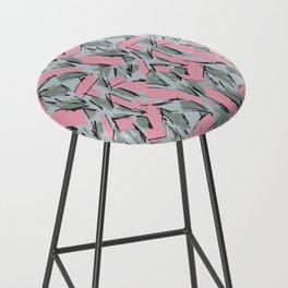 Hopper Pattern Bar Stool