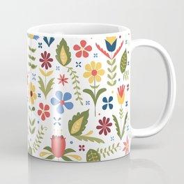 folky floral pattern Coffee Mug