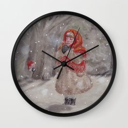 Hiding gnome Wall Clock