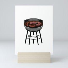 Grilling - The black can be scraped off Mini Art Print