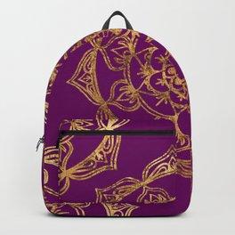 Purple & Gold Mandala Backpack