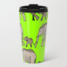 The elephants walk in two by two. Hurray! Hurray! Travel Mug