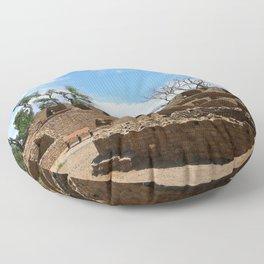 Aztec Ruins New Mexico Floor Pillow