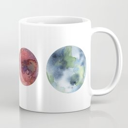 Watercolor planets: Mercury, Mars, Earth, Venus Coffee Mug