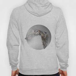 flying owl (tyto alba) Hoody