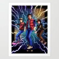 mcfly Art Prints featuring Triple McFly by QzKills
