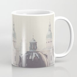 beneath the snow covered domes of Salzburg, Austria Coffee Mug