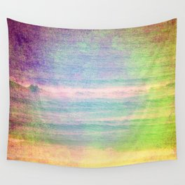 Abstract grunge ocean view Wall Tapestry