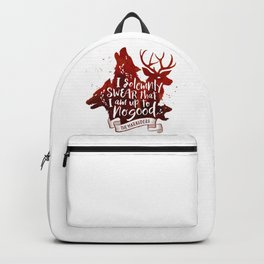 I solemnly swear - white Backpack