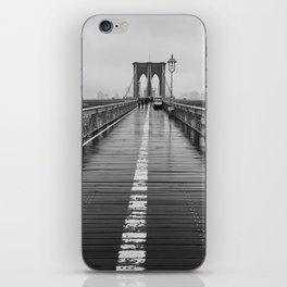 Black and White Brooklyn Bridge iPhone Skin