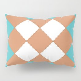 "Geometic Print ""Quilted"" Pillow Sham"