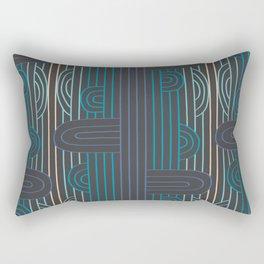 art deco stripe Rectangular Pillow