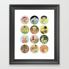 The Zodiac Framed Art Print