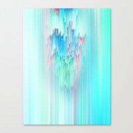 Rainbow Cascade Glitch Canvas Print
