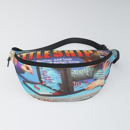 Battleship Board Game Painting Fanny Pack
