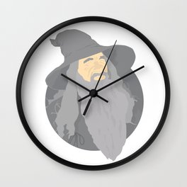 Gandalf Minimalistic Vector Portrait Wall Clock