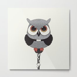 Exorcist Owl Priest Metal Print