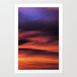 Sunset in the Maldives Art Print
