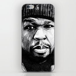50 Cent Pen Drawing iPhone Skin