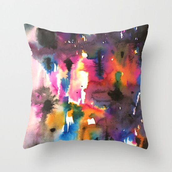 mystery pattern Throw Pillow