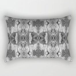 B&W Open Your Eyes Patterned Image Rectangular Pillow
