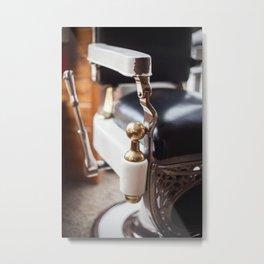 Barber's Chair Metal Print
