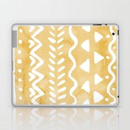 Loose bohemian pattern - yellow Laptop & iPad Skin