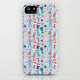 Dress Papercut Pattern - blue iPhone Case