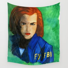 Agent Scully FBI Wall Tapestry