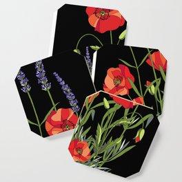 Poppies & Lavendar Coaster