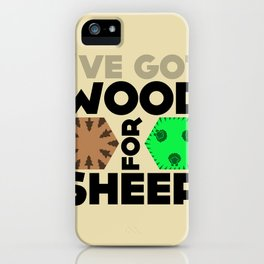 Wood for Sheep (Catan series) iPhone Case