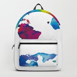World Map - Colorful Backpack