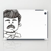 ron swanson iPad Cases featuring Ron Swanson by art by arielle
