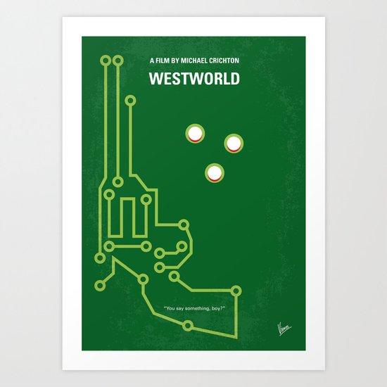 No231 My Westworld minimal movie poster Art Print