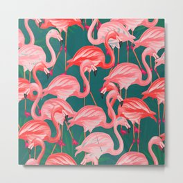 flamingo tropical Metal Print