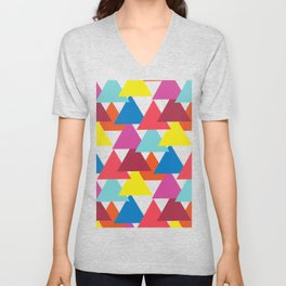 Mexican Streets Triangle Abstract Unisex V-Neck