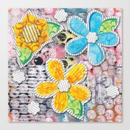 Paper Flower Power Canvas Print
