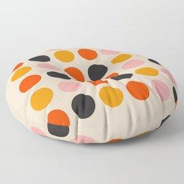 Retro Bauhaus Dots   70s European Pattern Floor Pillow