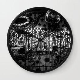 Dark Carousel Wall Clock