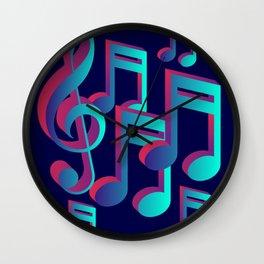 Music Notes Wall Clock