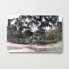 Crisp morning in Forsyth Park, cropped Metal Print
