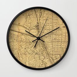 Vintage Map of Providence RI (1880) Wall Clock