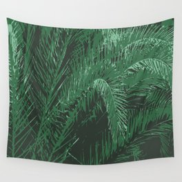 Night Palm Wall Tapestry