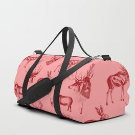 Woodland Critters in Red and Pink Duffle Bag