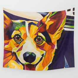 Pop Art Corgi Wall Tapestry