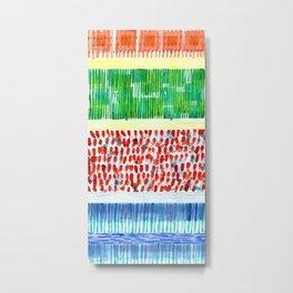 Joyful Stacked Patterns in High Format Metal Print
