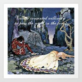 French Fairy Tales ~ Violette ~ Bookish Decor Art Print